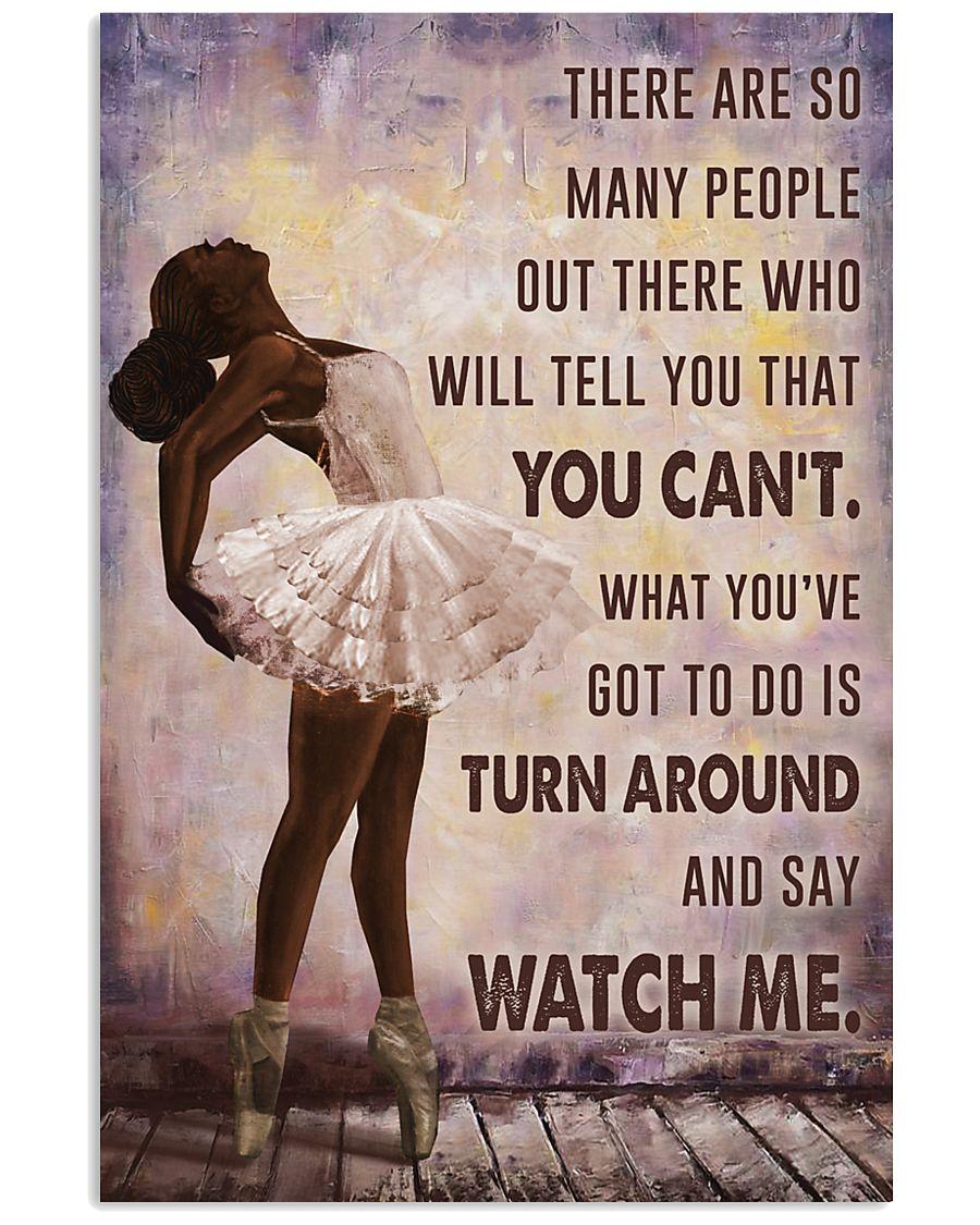 Watch Me Ballet Black Girl 11x17 Poster