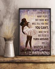 Watch Me Ballet Black Girl 11x17 Poster lifestyle-poster-3