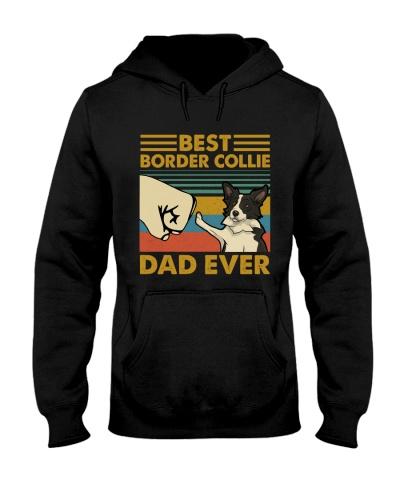 Retro Blue Border Collie Dad Ever