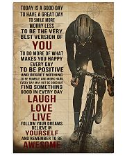 Today Is A Good Day Cycling 16x24 Poster front