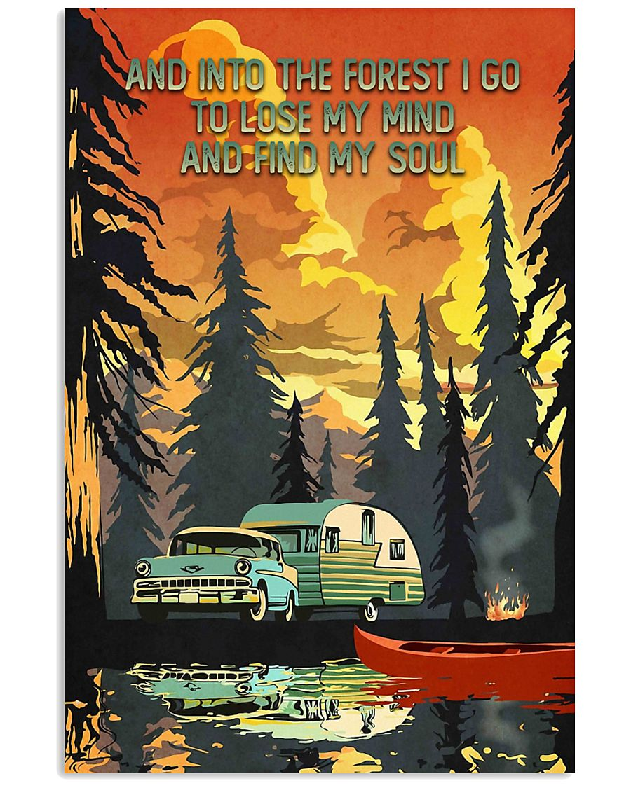 And Into The Forest Camping 11x17 Poster