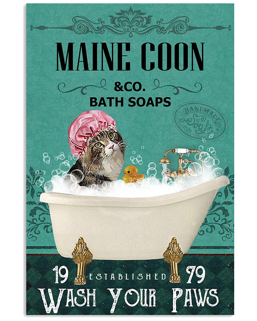 Green Bath Soap Company Maine Coon 11x17 Poster