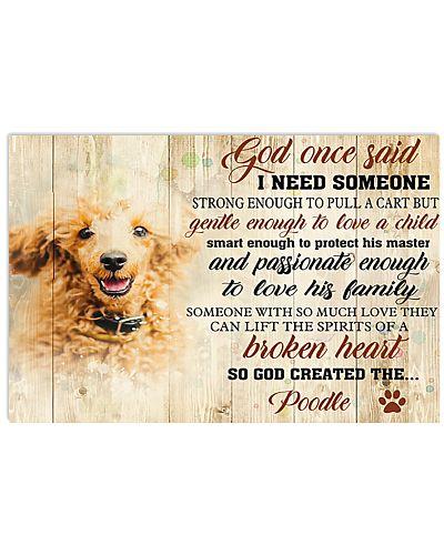 God Once Said Poodle Dog