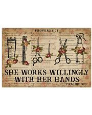 Catchphrase Works Willingly With Hand Hairstylist 36x24 Poster front