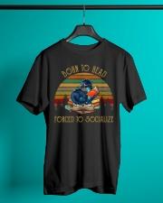 Retro Sun Dragon Born To Read - On Sale Classic T-Shirt lifestyle-mens-crewneck-front-3