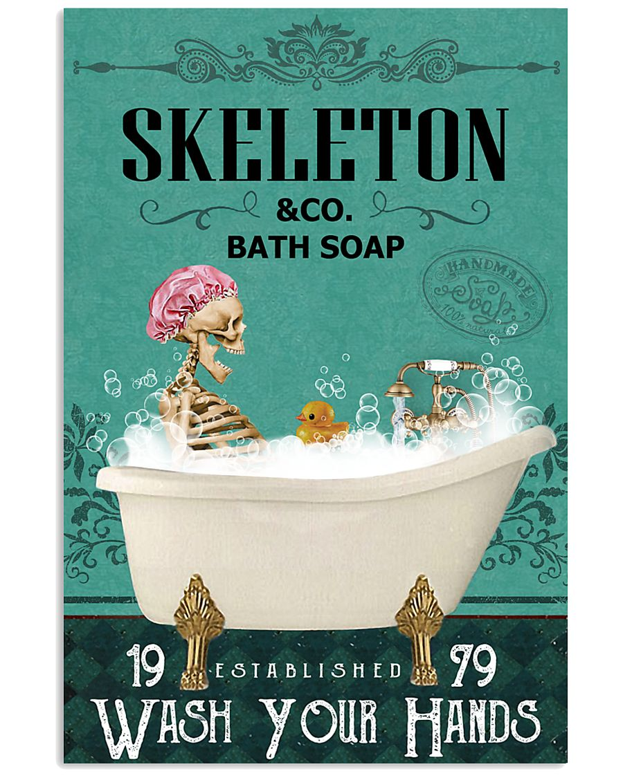 Green Bath Soap Company Skeleton 11x17 Poster