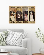Bernese Mountain Dog If You Feel Sad 24x16 Poster poster-landscape-24x16-lifestyle-01