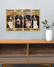 Bernese Mountain Dog If You Feel Sad 24x16 Poster poster-landscape-24x16-lifestyle-25