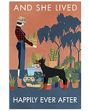 Vintage Lived Happily Gardening Doberman Pinscher 16x24 Poster front