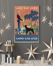 Vintage Lived Happily Gardening Doberman Pinscher 16x24 Poster lifestyle-holiday-poster-1