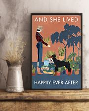 Vintage Lived Happily Gardening Doberman Pinscher 16x24 Poster lifestyle-poster-3