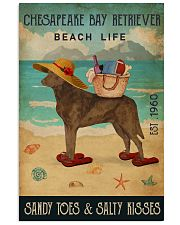 Beach Life Sandy Toes Chesapeake Bay Retriever 11x17 Poster front