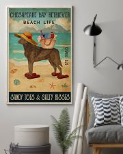 Beach Life Sandy Toes Chesapeake Bay Retriever 11x17 Poster lifestyle-poster-1