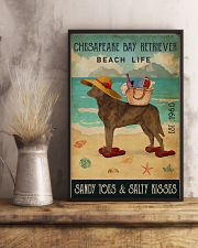 Beach Life Sandy Toes Chesapeake Bay Retriever 11x17 Poster lifestyle-poster-3