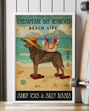 Beach Life Sandy Toes Chesapeake Bay Retriever 11x17 Poster lifestyle-poster-4