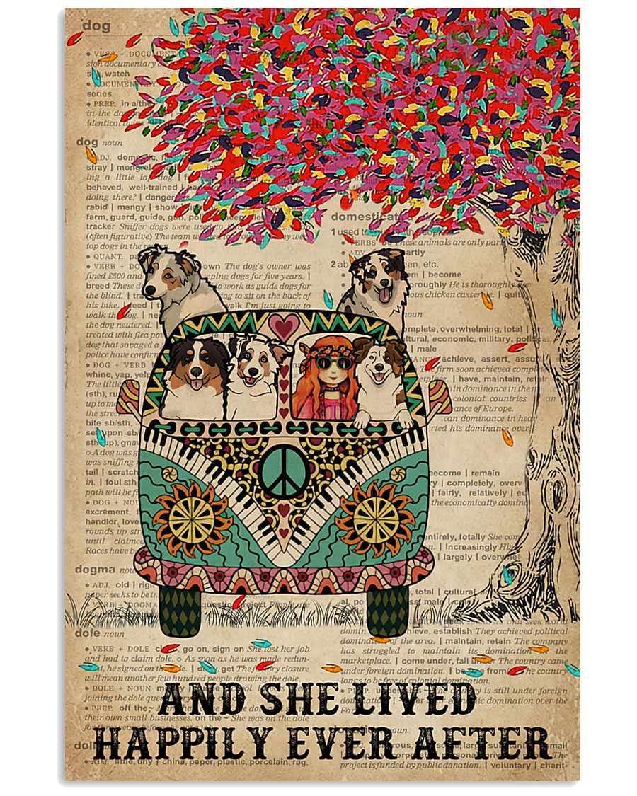 Dictionary She Lived Happily Australian Shepherd 11x17 Poster