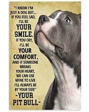 Always Be By Your Side Pit Bull 11x17 Poster front
