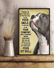 Always Be By Your Side Pit Bull 11x17 Poster lifestyle-poster-3
