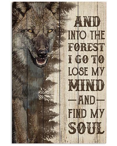 Pallet Half Forest Wanderlust Wolf