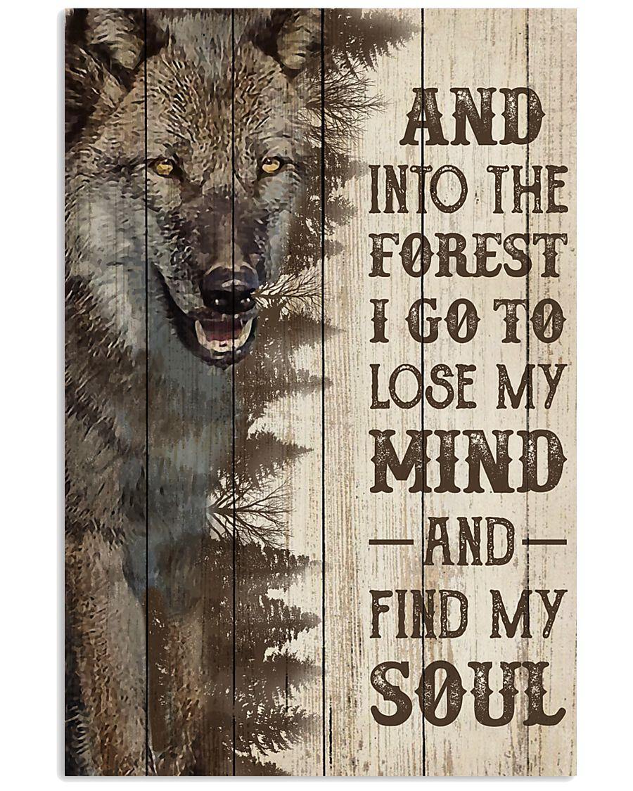 Pallet Half Forest Wanderlust Wolf 11x17 Poster