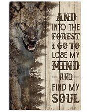 Pallet Half Forest Wanderlust Wolf 11x17 Poster front