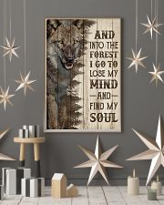 Pallet Half Forest Wanderlust Wolf 11x17 Poster lifestyle-holiday-poster-1