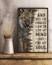 Pallet Half Forest Wanderlust Wolf 11x17 Poster lifestyle-poster-3