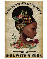 Never Underestimate The Power Black Girl Reading 11x17 Poster front