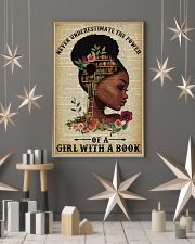 Never Underestimate The Power Black Girl Reading 11x17 Poster lifestyle-holiday-poster-1