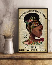 Never Underestimate The Power Black Girl Reading 11x17 Poster lifestyle-poster-3