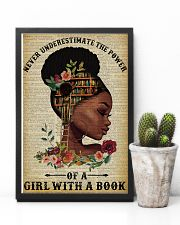 Never Underestimate The Power Black Girl Reading 11x17 Poster lifestyle-poster-8
