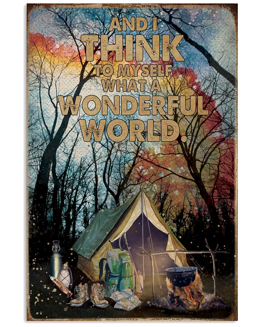 What A Wonderful World Camping 16x24 Poster