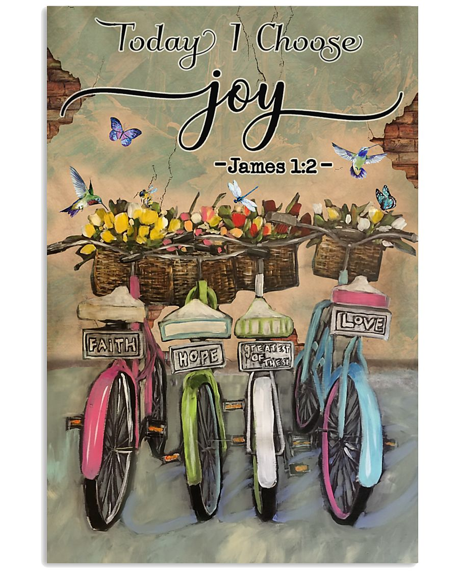 Green Pallet Bicycle Today I Choose Joy 11x17 Poster