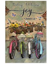 Green Pallet Bicycle Today I Choose Joy 11x17 Poster front