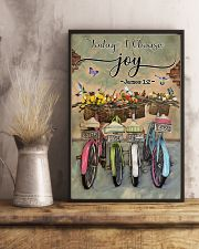 Green Pallet Bicycle Today I Choose Joy 11x17 Poster lifestyle-poster-3