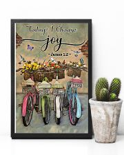Green Pallet Bicycle Today I Choose Joy 11x17 Poster lifestyle-poster-8