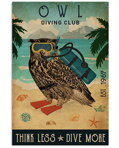 Vintage Diving Club Owl