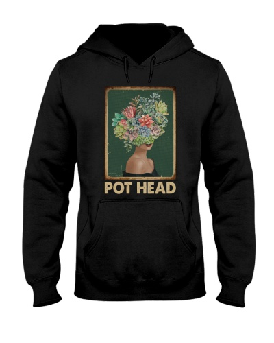 Retro Green Pot Head Succulent Lady