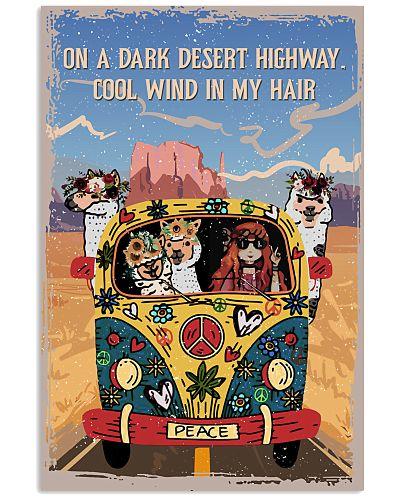 Vintage Hippie Dark Desert Highway Alpaca