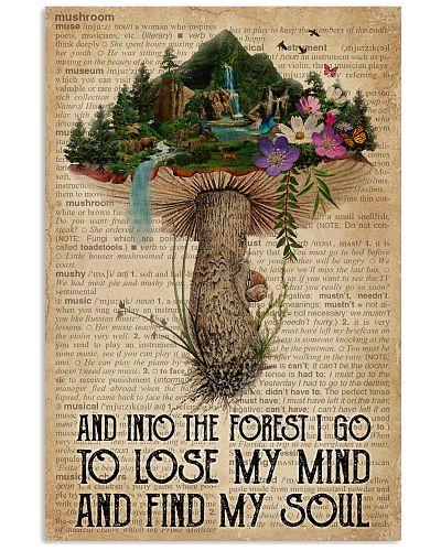 Vintage Dictionary Find My Soul Forest Mushroom