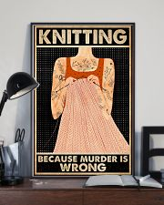 Knitting Because Murder Is Wrong 16x24 Poster lifestyle-poster-2