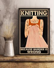 Knitting Because Murder Is Wrong 16x24 Poster lifestyle-poster-3