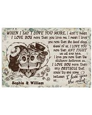 Personalized Skull I Love You The Most 24x16 Poster front