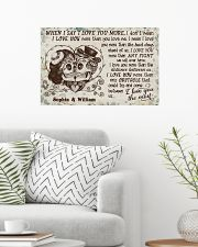 Personalized Skull I Love You The Most 24x16 Poster poster-landscape-24x16-lifestyle-01