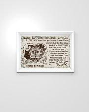Personalized Skull I Love You The Most 24x16 Poster poster-landscape-24x16-lifestyle-02