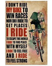 I Ride To Find Peace Cycling 16x24 Poster front