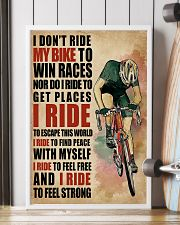 I Ride To Find Peace Cycling 16x24 Poster lifestyle-poster-4