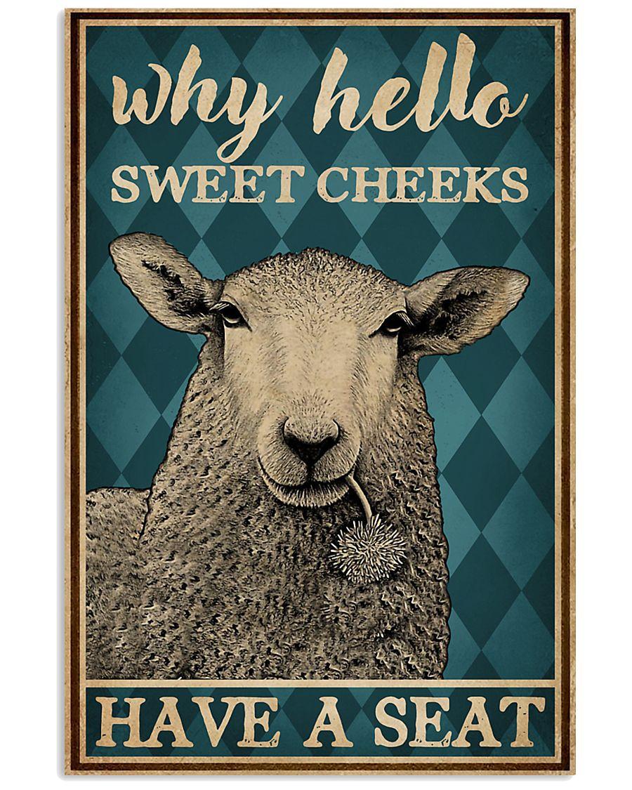 Why Hello Sweet Cheeks Sheep 16x24 Poster