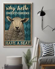Why Hello Sweet Cheeks Sheep 16x24 Poster lifestyle-poster-1