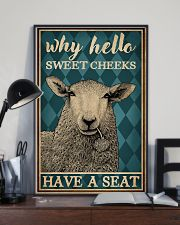 Why Hello Sweet Cheeks Sheep 16x24 Poster lifestyle-poster-2